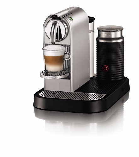 Nespresso Citiz D120-Us-Si-Ne1 Silver Chrome with Milk