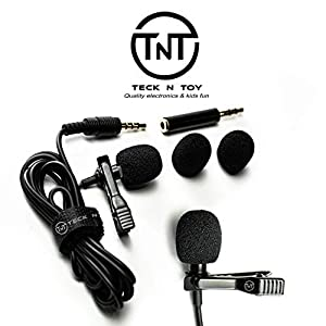 Mini ?Lavalier Lapel Microphone - Professional Clip On Collar Mic for Laptops, iPhone, Android Devices - Discreet, Portable Lav Recording System for Interviews, Podcasts, YouTubers, Vloggers