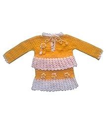 Durga Unne Ghar Girls Sweater (Durga Unne Ghar-64_Yellow _Free Size)