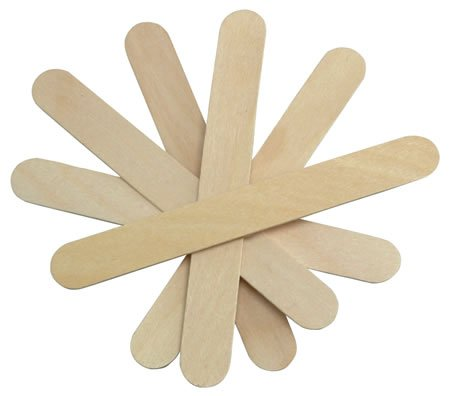 Cotton Orchid Large Wide Wood Wax Spatula Applicator 6