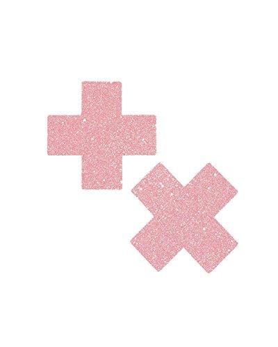 Pastease Cross Pasties (Glitter Pink)