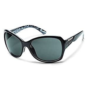 Suncloud Cassandra Polarized Sunglasses, Black Backpaint Frame, Gray Polycarbonate Lenses
