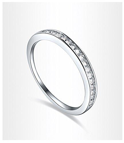 Celebrity Jewelry Swarovski Elements Crystal Channel Set Eternity Fashion Ring for Women Size 8