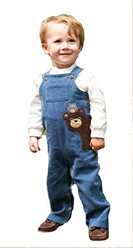 Mud Pie Boy'S Bear Overalls-Forest Friends (12/18) front-542774