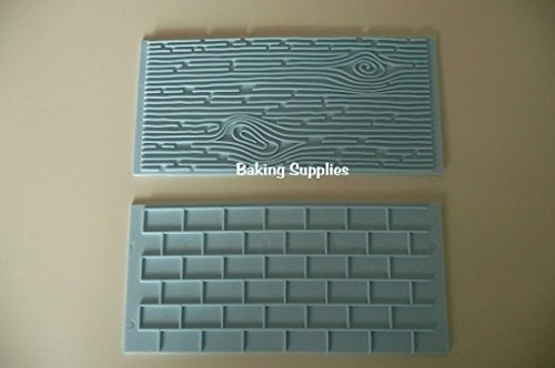 wood-grain-brick-effect-impression-mat-embosser-fondant-icing-cake-decoration