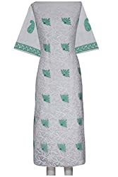 ADA Lucknow Chikankari Hand Embroidered Exclusive Ethnic Kurta Material A94994