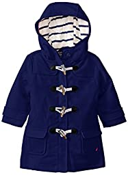 Nautica Baby Girls\' Swing Toggle Coat, Medium Navy, 12 Months