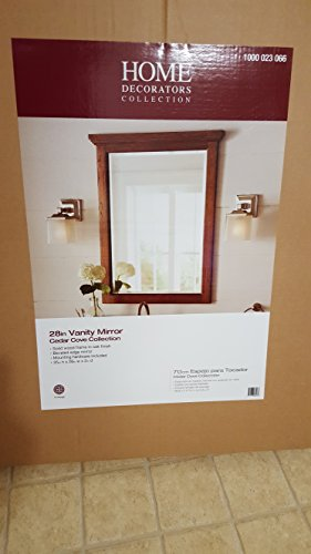 Cedar Cove 35 in. L x 28 in. W Framed Wall Mirror in Oak