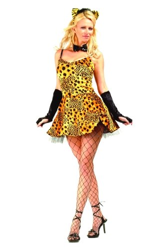 Adult Sexy Leopard Dress Costume Size Large (8-10)