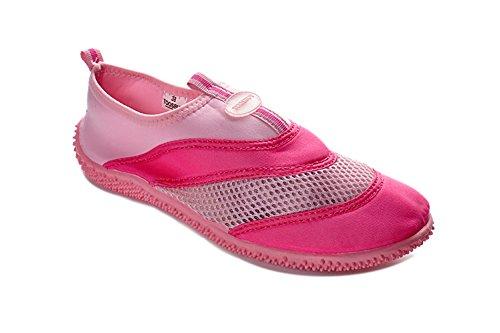 Tosbuy Girls's Slip on Water Shoes Beach Aqua Pink Size 31-32