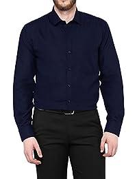 Always In Style MEN'S Navy Blue FORMAL SLIM FIT SHIRT
