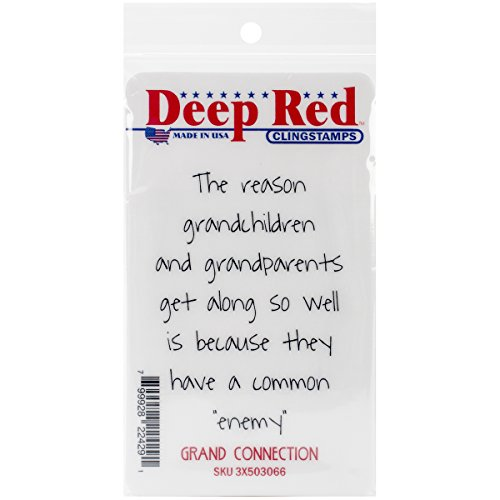 Deep Red Stamps Grand Connection Rubber Stamp - 1