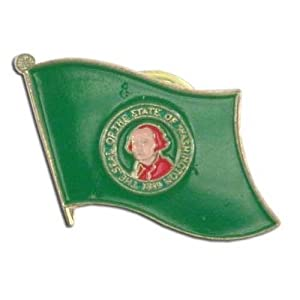 US Flag Store Washington Flag Lapel Pin