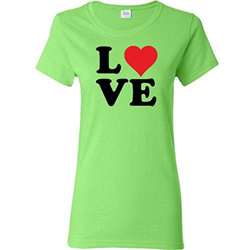 Inktastic Love Women'S T-Shirt Small Key Lime