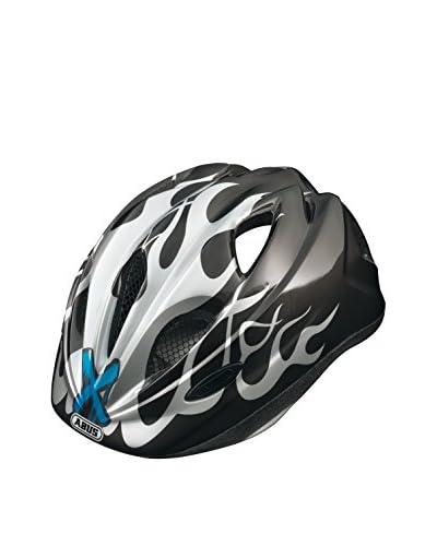ABUS Casco da Bicicletta Super Chilly X-Flame Nero/Grigio 46-52 cm