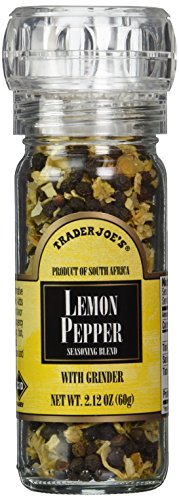Trader Joe's Lemon Pepper Seasoning Blend with a Built in Grinder (Trader Joes Black Pepper Sauce compare prices)