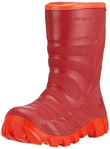 Viking ULTRA 2.0, Stivali di Gomma, Unisex, Bambino, Colore Rosso (Rot (Red/Orange 1031)), Taglia 28