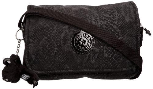 Kipling Womens Delphin Shoulder Bag K15061A13 Black Snake