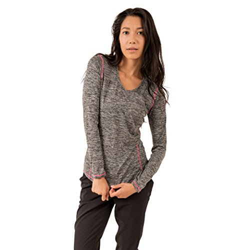 RBX-Active-Womens-Long-Sleeve-Space-Dye-V-Neck-Running-Tee-Shirt