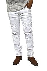 Jack Royal Men's Narrow Fit Jeans (MENS-JEANS-NARW-FIT-WHITE-34_White_34)