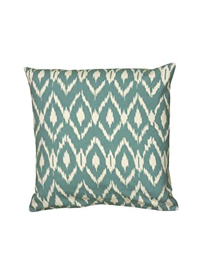Rizzy Home Teal Ikat Throw Pillow