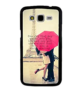 Lovers at Eiffel Tower Back Case Cover for SAMSUNG GALAXY J7