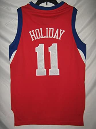 Buy Jrue Holiday Philadelphia 76ers Red NBA Youth Swingman Revolution 30 Jersey by adidas