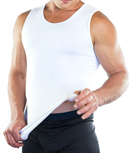 Best Fitted A Tank Undershirt For Men - Slim Fit A Undershirt with Moisture-Wicking Fabric Keeps You Cool on Hot Days, Tailored Fit Provides a Slimming Look - Medium