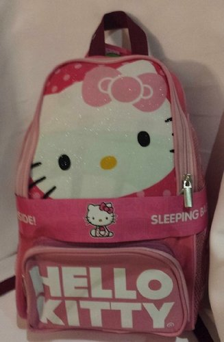 Hello Kitty Deluxe Backpack With Sleeping Bag Inside front-827648