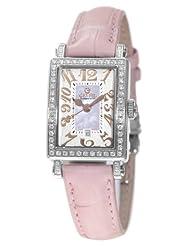 Gevril Women's 8248RL Super Mini Quartz Pink Mother of Pearl Diamond Watch