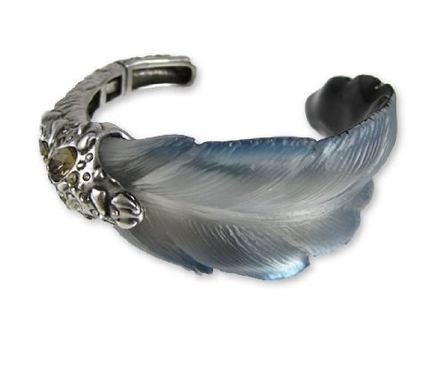Alexis Bittar Lucite Bracelet - O'Keeffe Feather Cuff