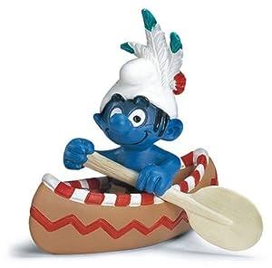 Schleich Canoe Smurf