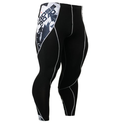 Fixgear Mens Womens Skin Tights Compression Baselayer Running Pants Black S ~ 2XL