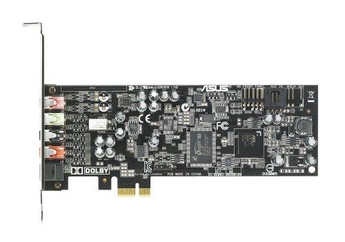 Asus Xonar DGX Scheda Audio PCI-Express, 105dB SNR, 5.1 Canali, Amplificatore Cuffie, Dolby Headphone, GX2.5, Nero/Antracite