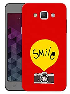 """Humor Gang Smile On Camera Printed Designer Mobile Back Cover For """"Samsung Galaxy E5"""" (3D, Matte, Premium Quality Snap On Case)"""