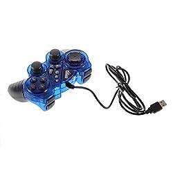 New Blue Super Shock Game Analog Controller USB 2.0