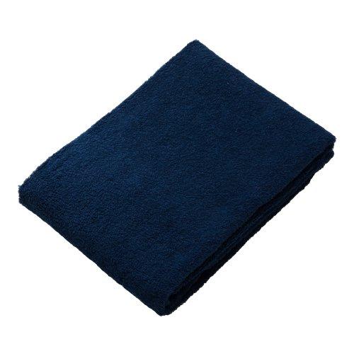 毎日の暮らしに贅沢を ふんわりやさしい肌触りと包み込むような気持ちよさ H&Cバスタオル ネイビー色