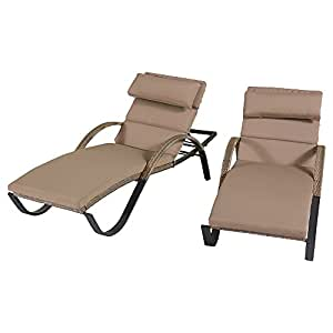 Cannes chaise lounges with cushion head for Amazon chaise longue