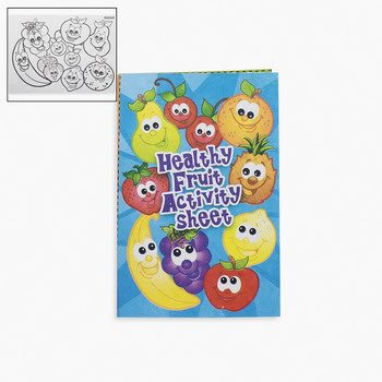 Fruit Fold Up Activity Books (2 dozen) - Bulk