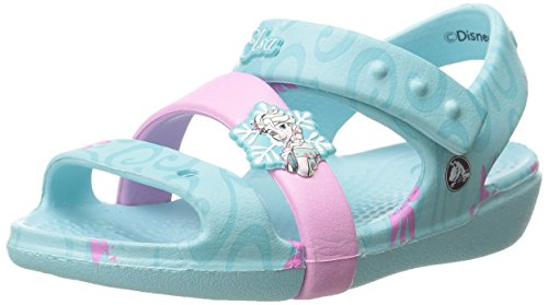 Crocs - Keeley Frozen Fever, Sandali Bambina, Blu (Blue (Ice Blue)), 24/25 EU