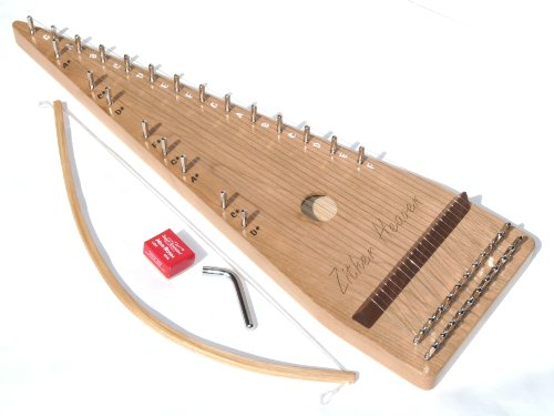 Zither Heaven 22 String Cherry Bowed Psaltery