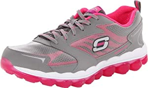 Skechers Women's Sport Skech Air Cross Trainer,Grey/Hot Pink,8 M US