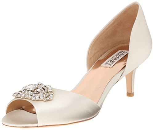 Badgley Mischka Women's Petrina D'Orsay Pump,Ivory,9 M US