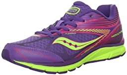 Saucony Girls Kinvara 4 Running Shoe (Big Kid),Purple/Pink/Citron,4 M US Big Kid