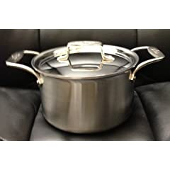 All-Clad BD552043 Stainless Steel D5 Brushed 5-Ply Bonded Dishwasher Safe Soup Pot with... by All-Clad