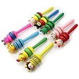 AllLife Funny Cute Baby Cartoon Animal Wooden Bell Musical Developmental Instrument Toy