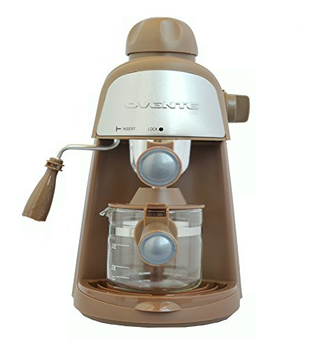 Find Bargain Ovente CM44 3.5 BAR Steam Espresso Machine, Brown