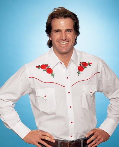 6b52477b97 Ely Cattleman Men s Embroidered Rose Design Western Shirt Black Large