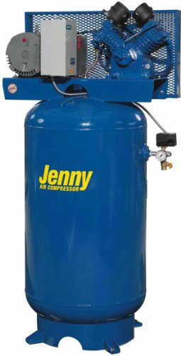 Jenny Compressors GT3B-80V-230/1 3-HP 80-Gallon Tank 1 Phase 230-Volt, Vertical Electric Two-Stage Stationary Compressor