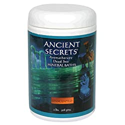 Ancient Secrets Mineral Baths, Aromatherapy Dead Sea, Unscented, 32 Oz (2 Lbs) 908 G (Pack Of 2)